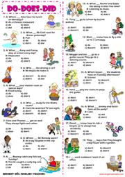 261 FREE ESL Auxiliary verbs worksheets