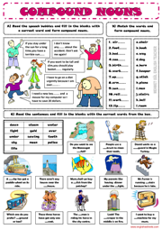 Printables Compound Nouns Worksheet nouns esl printable worksheets and exercises compound grammar worksheet