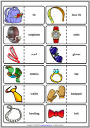 Accessories ESL Printable Dominoes Game For Kids