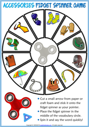 Accessories ESL Printable Fidget Spinner Game For Kids