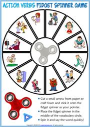 Action Verbs Esl Vocabulary Worksheets - 49+ Verb Worksheets For Kindergarten PNG