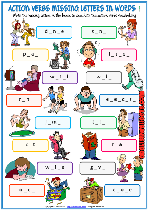 actions verbs