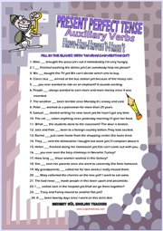 Have or Has Present Perfect Tense ESL Grammar Worksheet