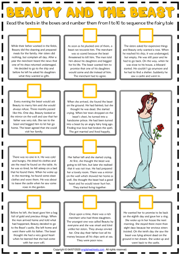Beauty and the Beast ESL Sequencing the Story Worksheet