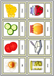 Breakfast ESL Printable Vocabulary Learning Cards For Kids