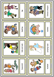 Children Games ESL Printable Vocabulary Learning Cards