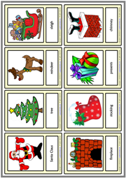 Christmas ESL Printable Vocabulary Learning Cards For Kids