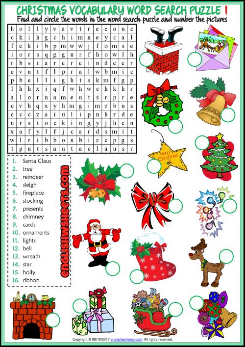 ESL Printable Word Search Puzzle Worksheets