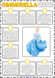 Cinderella ESL Sequencing the Story Worksheet