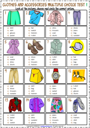 clothes and accessories esl printable worksheets and exercises. Black Bedroom Furniture Sets. Home Design Ideas