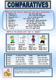 Comparatives and Superlatives ESL Printable Worksheets