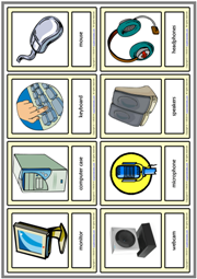 Computer Parts ESL Printable Vocabulary Learning Cards