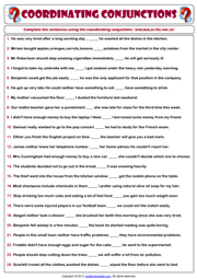 Printables Fanboys Grammar Worksheet conjunctions esl printable worksheets and exercises coordinating worksheet