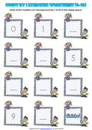 Grade 1 Counting Printable Maths Worksheets and Exercises