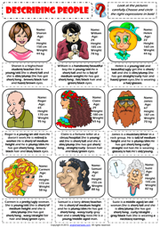 Describing People Physical Appearance ESL Worksheet