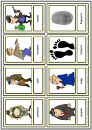 Detective Stories ESL Printable Vocabulary Learning Cards