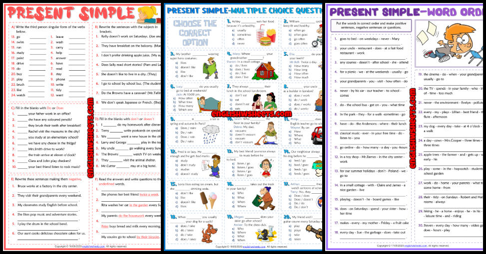 ESL Printable Grammar Worksheets And Exercises