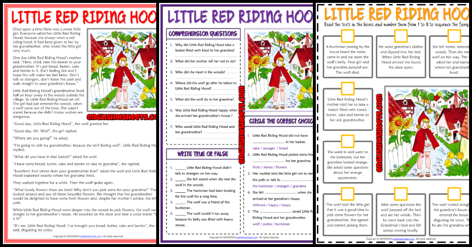 ESL Printable Reading Comprehension Worksheets And Exercises