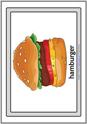 Fast Food ESL Printable Flashcards With Words for Kids