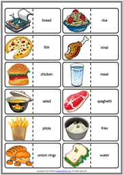 Food and Drinks ESL Printable Dominoes Game