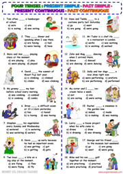 Present Progressive Tense Free Printable Worksheets - Worksheets For ...