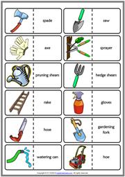 Gardening Tools ESL Printable Vocabulary Worksheets