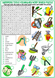 Gardening Tools Esl Printable Worksheets And Exercises
