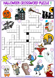 photograph relating to Halloween Word Search Puzzle Printable called Halloween ESL Printable Vocabulary Worksheets