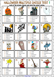 Halloween Esl Vocabulary Worksheets