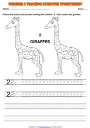 math worksheet : kindergarten numbers printable worksheets and exercises : Number 2 Worksheets For Kindergarten
