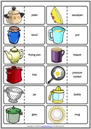 Kitchen Utensils Esl Vocabulary Worksheets