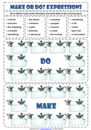 make and do esl printable worksheets and exercises