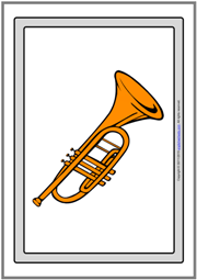 Musical Instruments ESL Printable Flashcards Without Words
