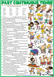 Present Continuous Tense ESL Grammar Exercises Worksheet