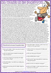 Past Continuous ESL Reading Comprehension Questions Worksheet