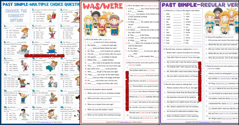 Past Simple Tense ESL Worksheets