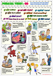 Phrasal Verbs ESL Printable Worksheets and Exercises
