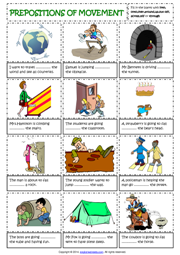 Printables Esl Preposition Worksheets prepositions esl printable worksheets and exercises of movement english grammar worksheet