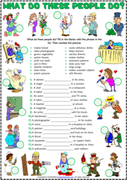 Present Simple Tense Esl Worksheets