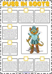 Puss in Boots ESL Sequencing the Story Worksheet