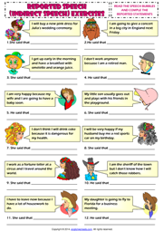 Reported Speech Esl Printable Worksheets And Exercises