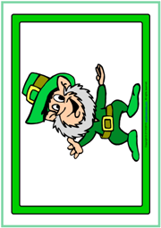 St. Patrick's Day ESL Printable Flashcards Without Words