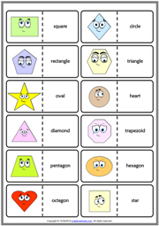 Shapes ESL Printable Dominoes Game For Kids