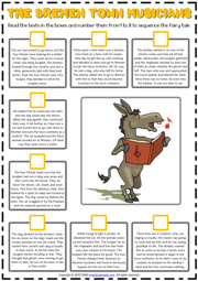 The Bremen Town Musicians ESL Sequencing the Story Worksheet