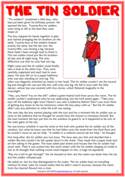 The Tin Soldier ESL Reading Text Worksheet For Kids