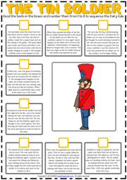 The Tin Soldier ESL Sequencing the Story Worksheet
