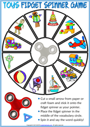 Toys ESL Printable Fidget Spinner Game For Kids