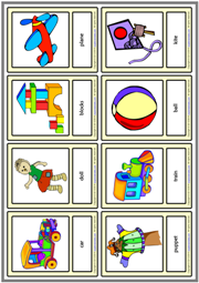 Toys ESL Printable Vocabulary Learning Cards For Kids