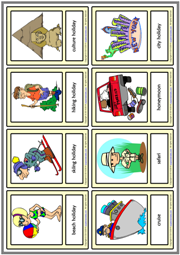 Holiday Types ESL Printable Vocabulary Learning Cards