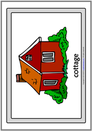 Types of Houses ESL Printable Flashcards With Words